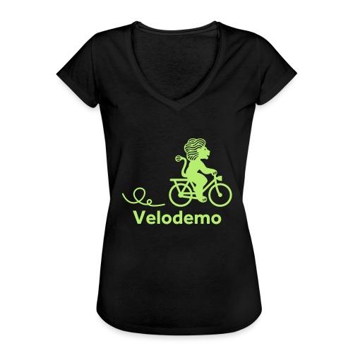Züri-Leu mit Text - Frauen Vintage T-Shirt