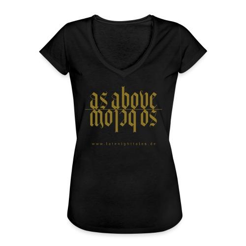 As Above - So Below - GOLD - Frauen Vintage T-Shirt