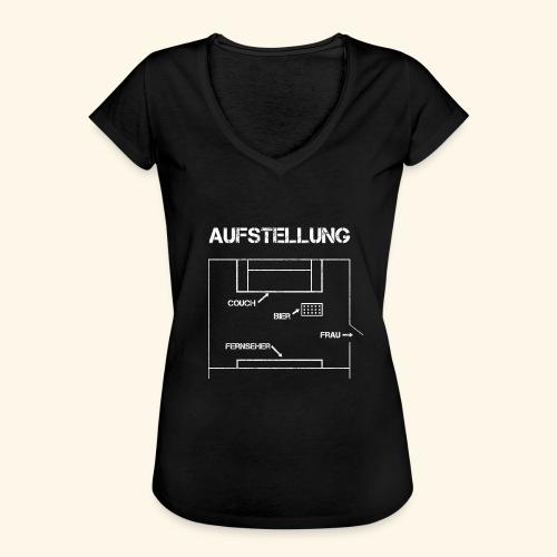 Fussball Aufstellung Weltmeisterschaft Geschenk - Frauen Vintage T-Shirt