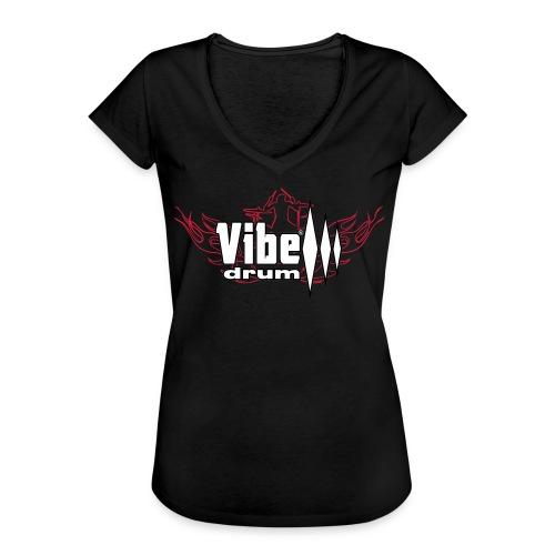 Vibe_Drum_Logo_Flames - Maglietta vintage donna