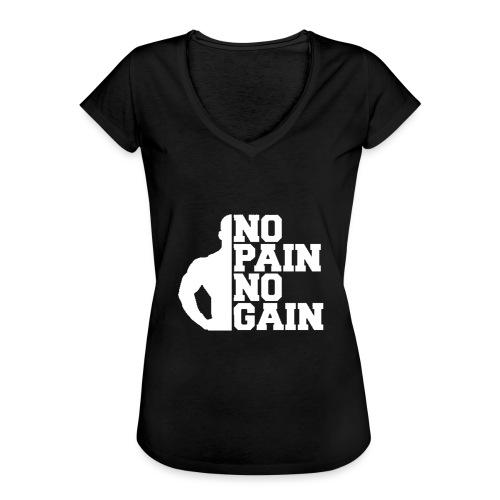 no pain no gain - T-shirt vintage Femme
