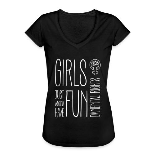 Girls just wanna have fundamental rights - Frauen Vintage T-Shirt