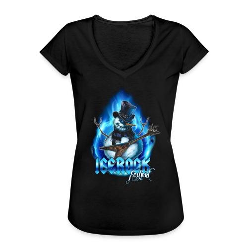 Snowman Evil - Frauen Vintage T-Shirt