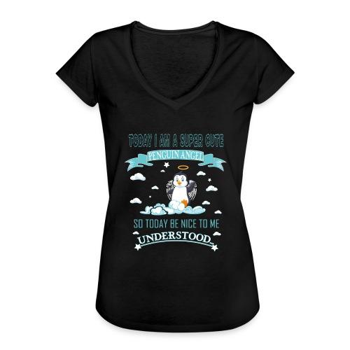 Pinguin Engel Weihnachten Antarktis Shirt Geschenk - Frauen Vintage T-Shirt