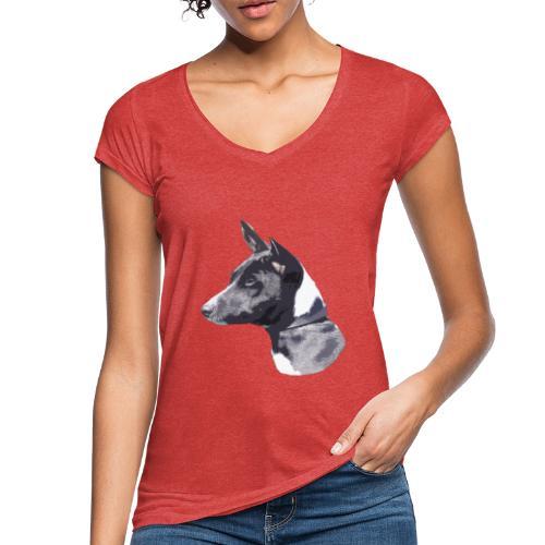 basenji black - Dame vintage T-shirt