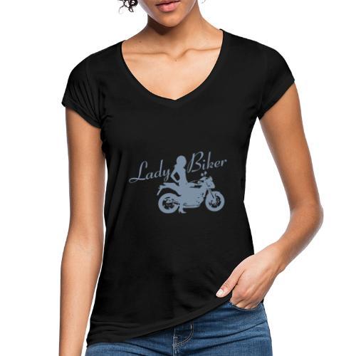 Lady Biker - Naked bike - Naisten vintage t-paita