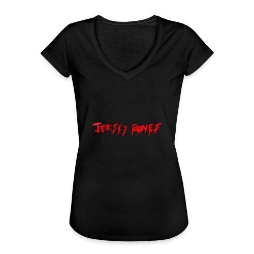 Jersey Bones Logo - Women's Vintage T-Shirt