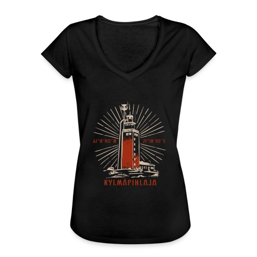 KYLMÄPIHJALAN MAJAKKA tekstiilit ja lahjatuotteet. - Naisten vintage t-paita