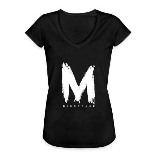 Logo Weiß - Frauen Vintage T-Shirt