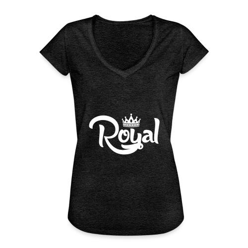 Royal Logo White Edition - Women's Vintage T-Shirt