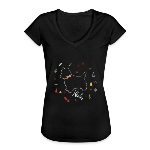 WINTER DOG COLLECTION - T-shirt vintage Femme