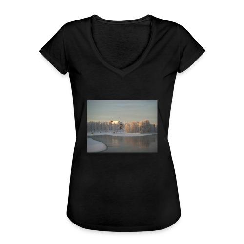Talvinen Joensuu - Naisten vintage t-paita