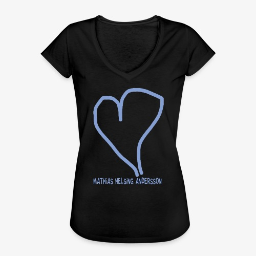 Hjärta med text - Vintage-T-shirt dam