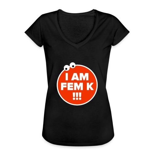 I AM FEM K - Women's Vintage T-Shirt