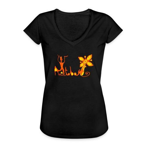 jaune orange png - T-shirt vintage Femme