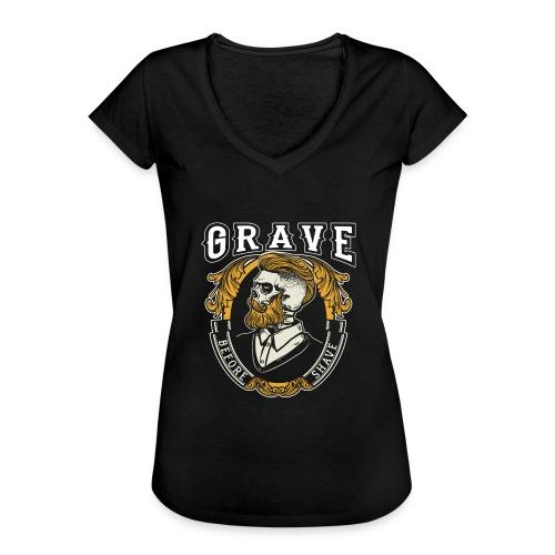 Grave Before Shave Bearded - Frauen Vintage T-Shirt