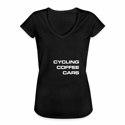 Cycling Cars & Coffee - Women's Vintage T-Shirt