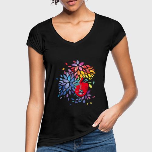Femme cheveux de fleurs - T-shirt vintage Femme