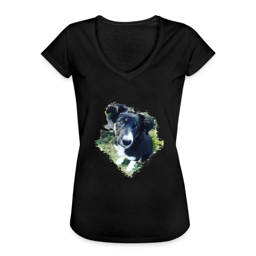 colliegermanshepherdpup - Women's Vintage T-Shirt