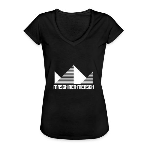Maschinen-Mensch Logo black - Frauen Vintage T-Shirt