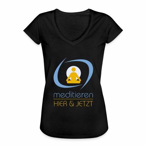 MeditierenHierJetzt.ch - Frauen Vintage T-Shirt