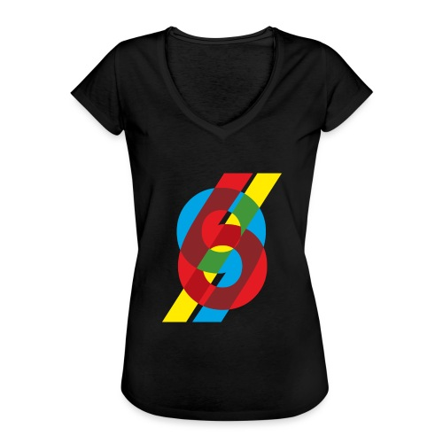 colorful numbers - Women's Vintage T-Shirt