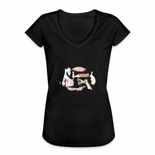 Pintular - Camiseta vintage mujer