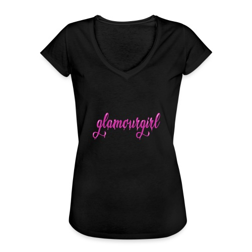 Glamourgirl dripping letters - Vrouwen Vintage T-shirt