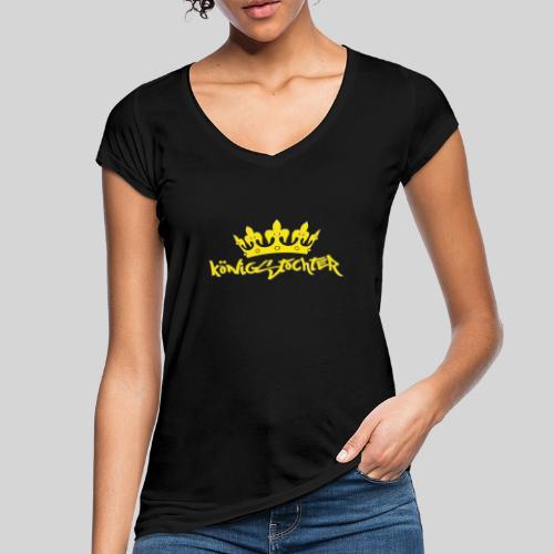 Königstochter m. Krone über der stylischen Schrift - Frauen Vintage T-Shirt