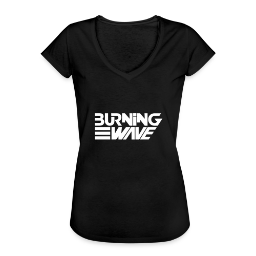 Burning Wave Block - T-shirt vintage Femme