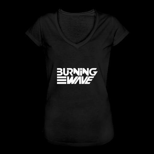 Burning Wave Block - T-shirt vintage Femme