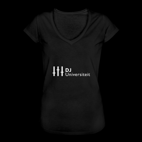 DJ-U (WIT) - Vrouwen Vintage T-shirt