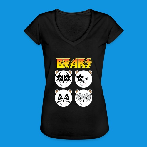 Kiss Bears square.png - Women's Vintage T-Shirt