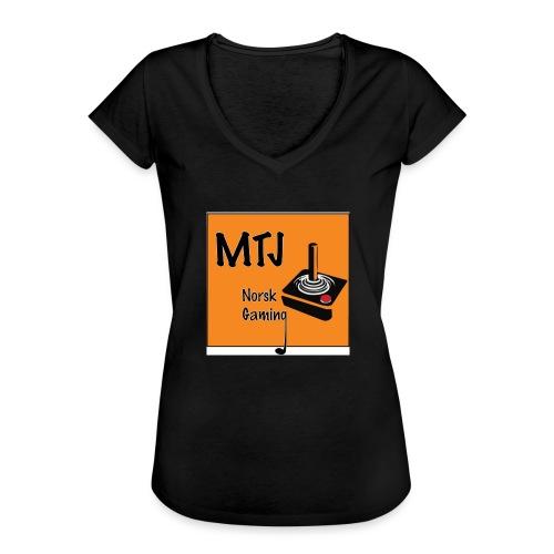 Mtj Logo - Vintage-T-skjorte for kvinner
