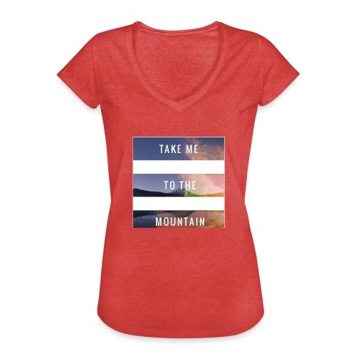 Take me to the mountain - Camiseta vintage mujer