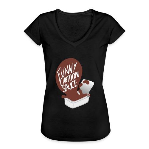FUNNY CARTOON SAUCE - FEMALE - Women's Vintage T-Shirt