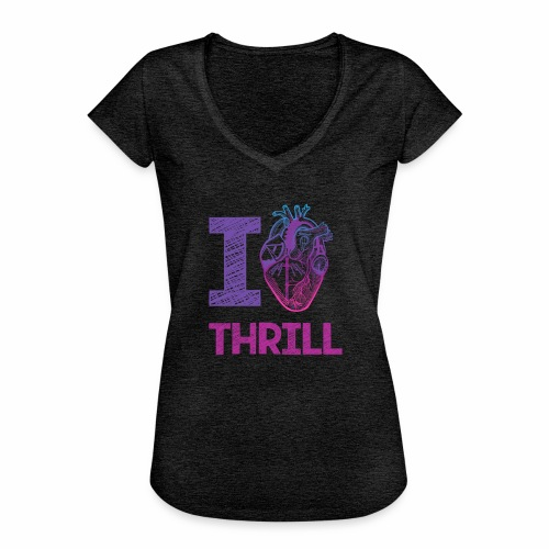 I love Thrill Logo - ParkTube - Frauen Vintage T-Shirt
