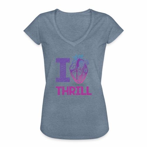 I love Thrill Logo - ParkTube - Frauen Vintage T-Shirt