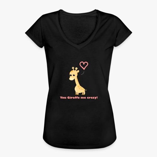 Giraffe Me Crazy - Dame vintage T-shirt