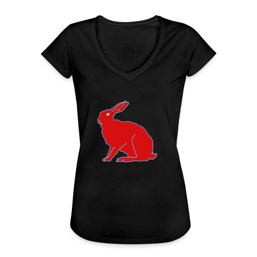 Roter Hase - Frauen Vintage T-Shirt