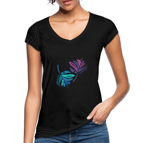foglie geometriche - Maglietta vintage donna