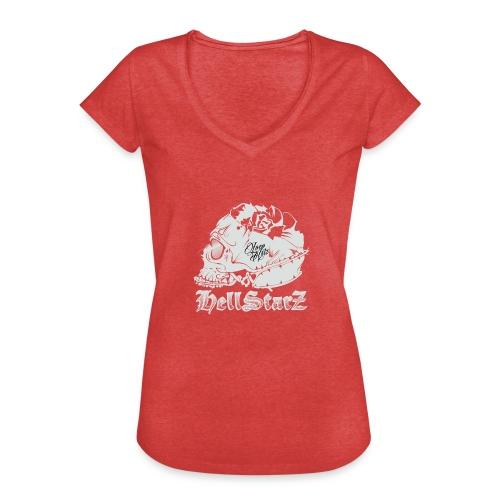 HELLSTARZ Skull Logo - T-shirt vintage Femme