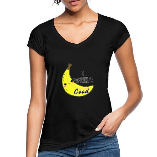 Banana divertente kawaii carina fumetto - Maglietta vintage donna