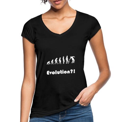 Evolution drunk saeufer alkohol - Frauen Vintage T-Shirt
