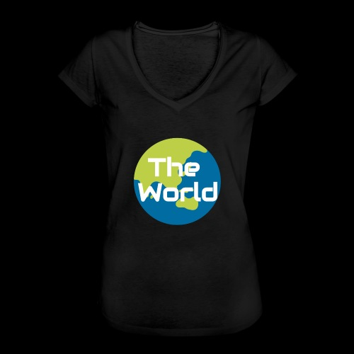 The World Earth - Dame vintage T-shirt
