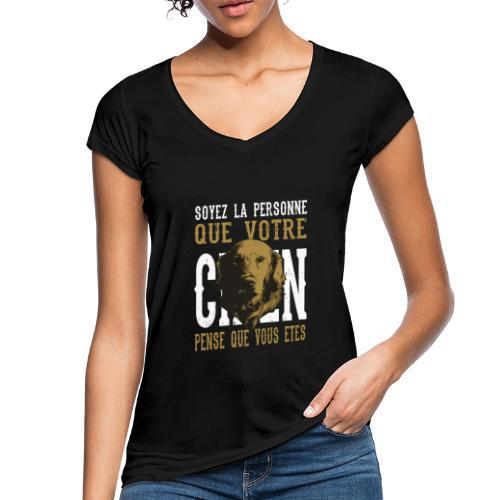 Un amour de chien - T-shirt vintage Femme