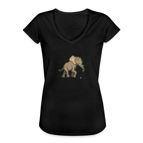 African Elephant (black edition) - Frauen Vintage T-Shirt