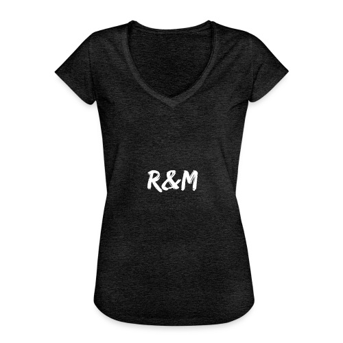 R&M Large Logo tshirt black - Women's Vintage T-Shirt