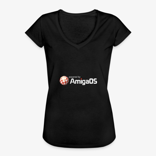 PoweredByAmigaOS white - Women's Vintage T-Shirt