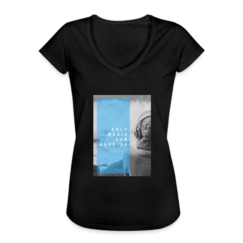Only Music - Vrouwen Vintage T-shirt